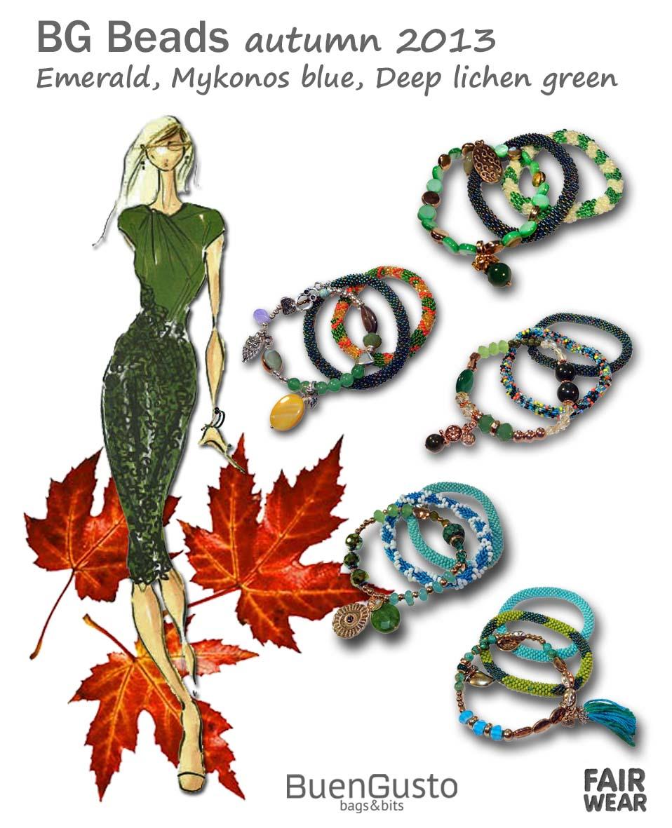 BG Nepal beads - autumn 2013 green